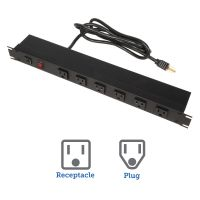 15A Horizontal Rackmount Power Strips