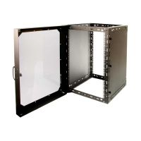 Wall Mount Rack - 15U with Front Door Open