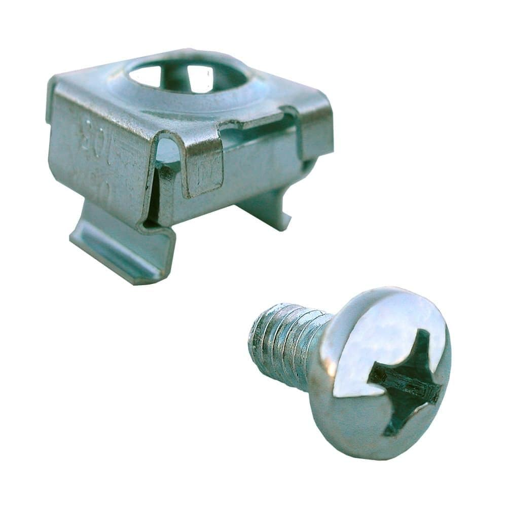 Cage Nuts and Screws,M5 Cage Nuts and Screw Square Hole Hardware Cage Nuts /& Mounting Screws Washers for Server Rack and Cabinet