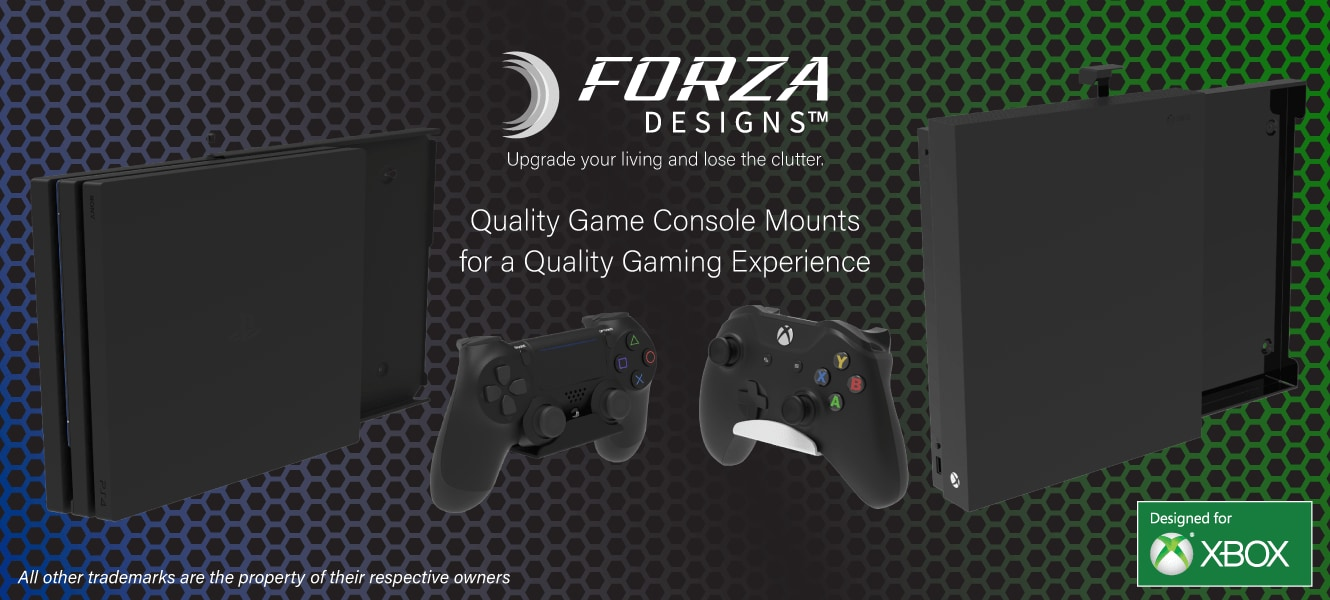 Forza Designs Console Mountings for Xbox and PS4