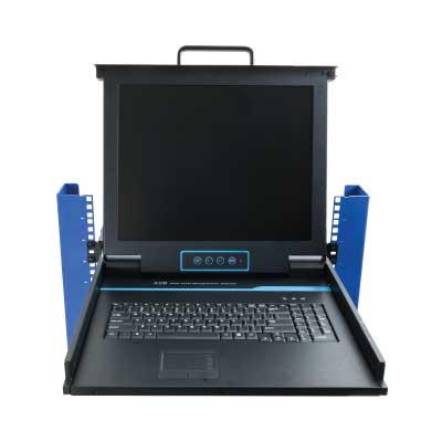 Control everything right from your rack the KVM mounts provide a place to mount your keyboard, monitor and mouse inside of your rack.