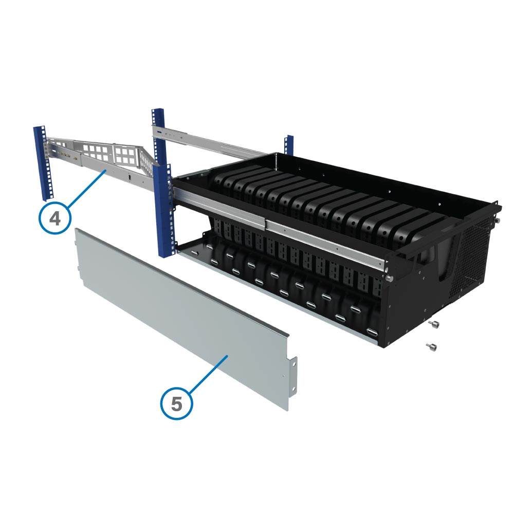 Easy serviceability with removable panels