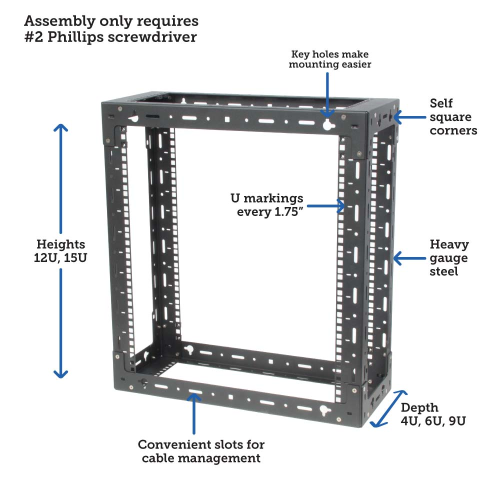 Wall mounted rack size and specs