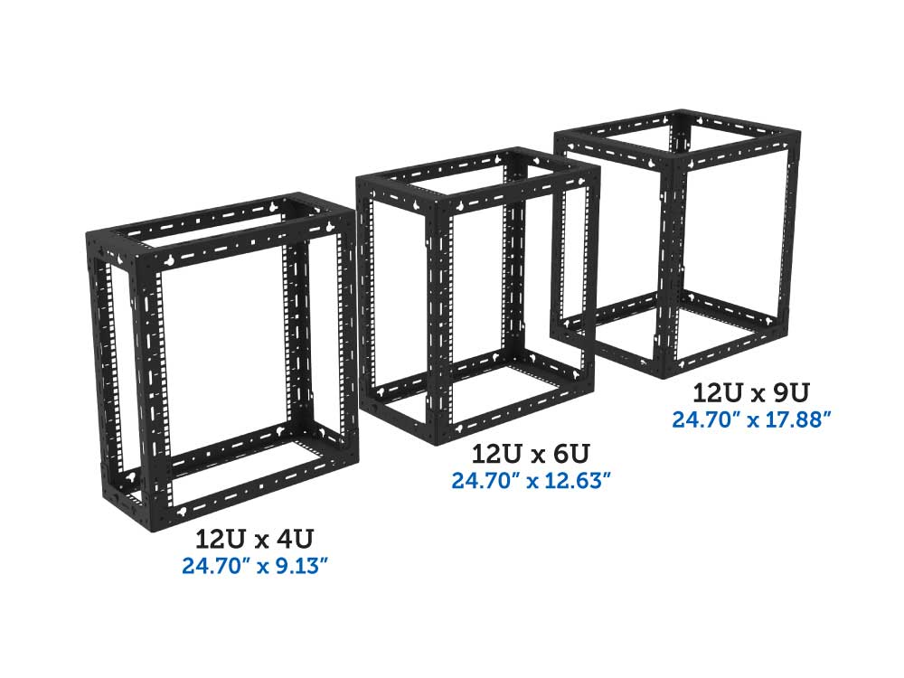 Open Frame Wall Mount Rack Racksolutions
