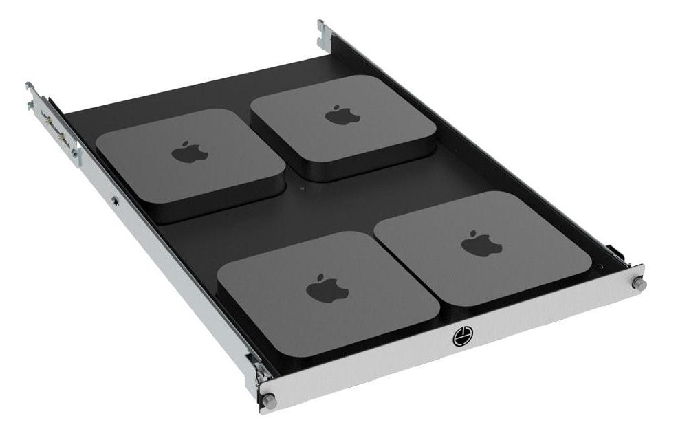 1U rack mount mac mini shelf 4 post