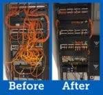 helpful strategies for proper rack cable management racksolutions rh racksolutions com Server Rack Cabling Server Rack Diagram