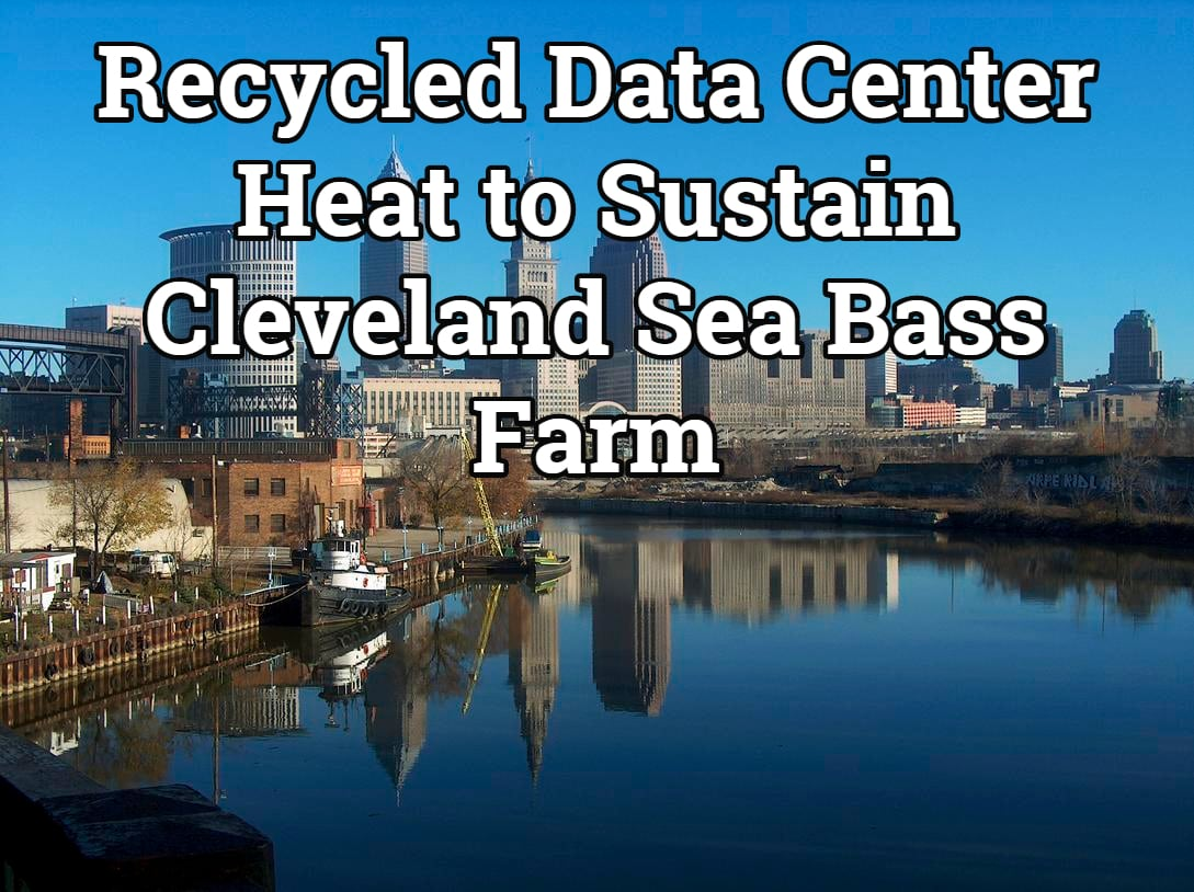 Recycled Data Center Heat to Sustain Cleveland Sea Bass Farm