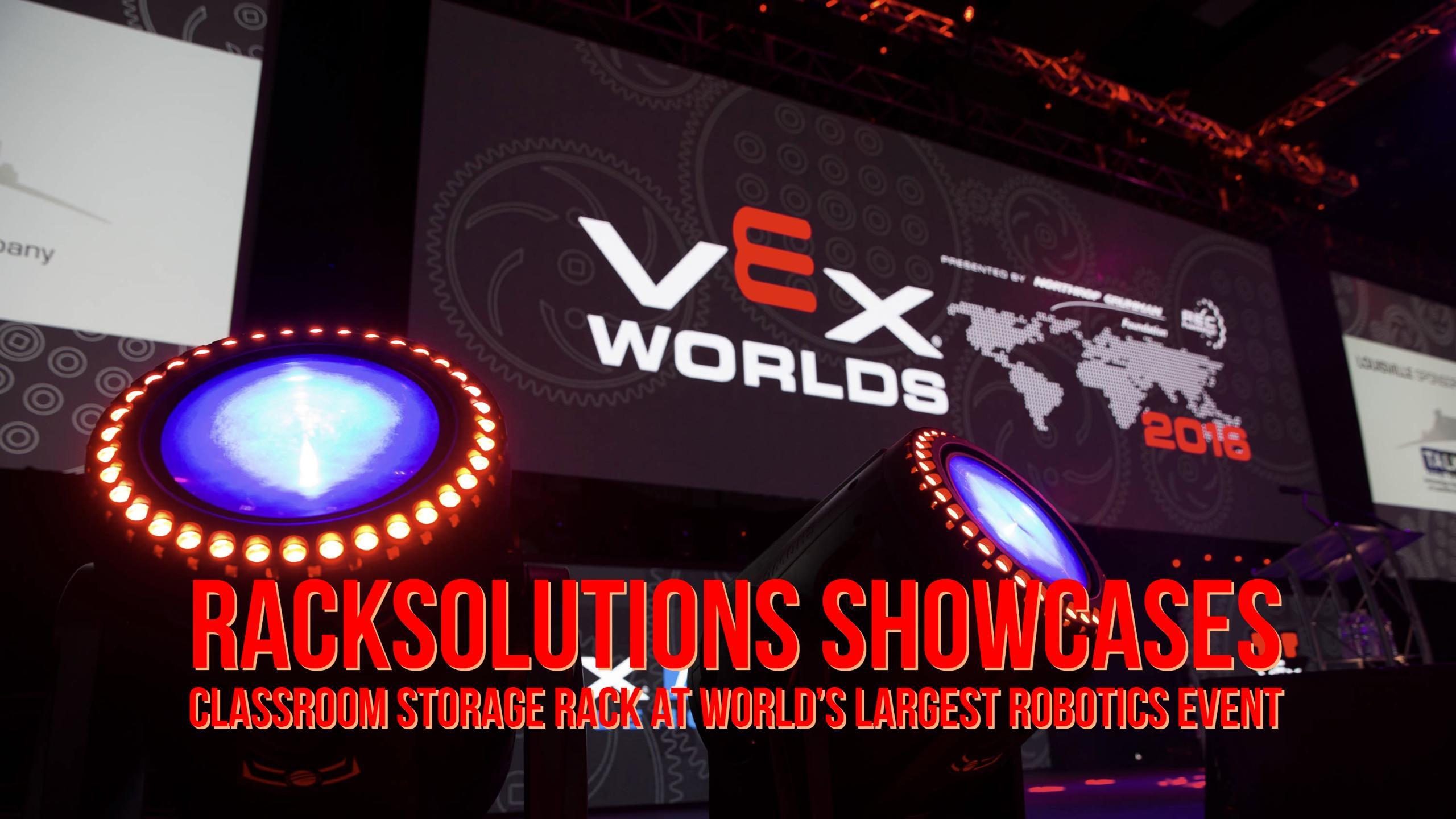 Classroom Storage Rack at World's Largest Robotics Event