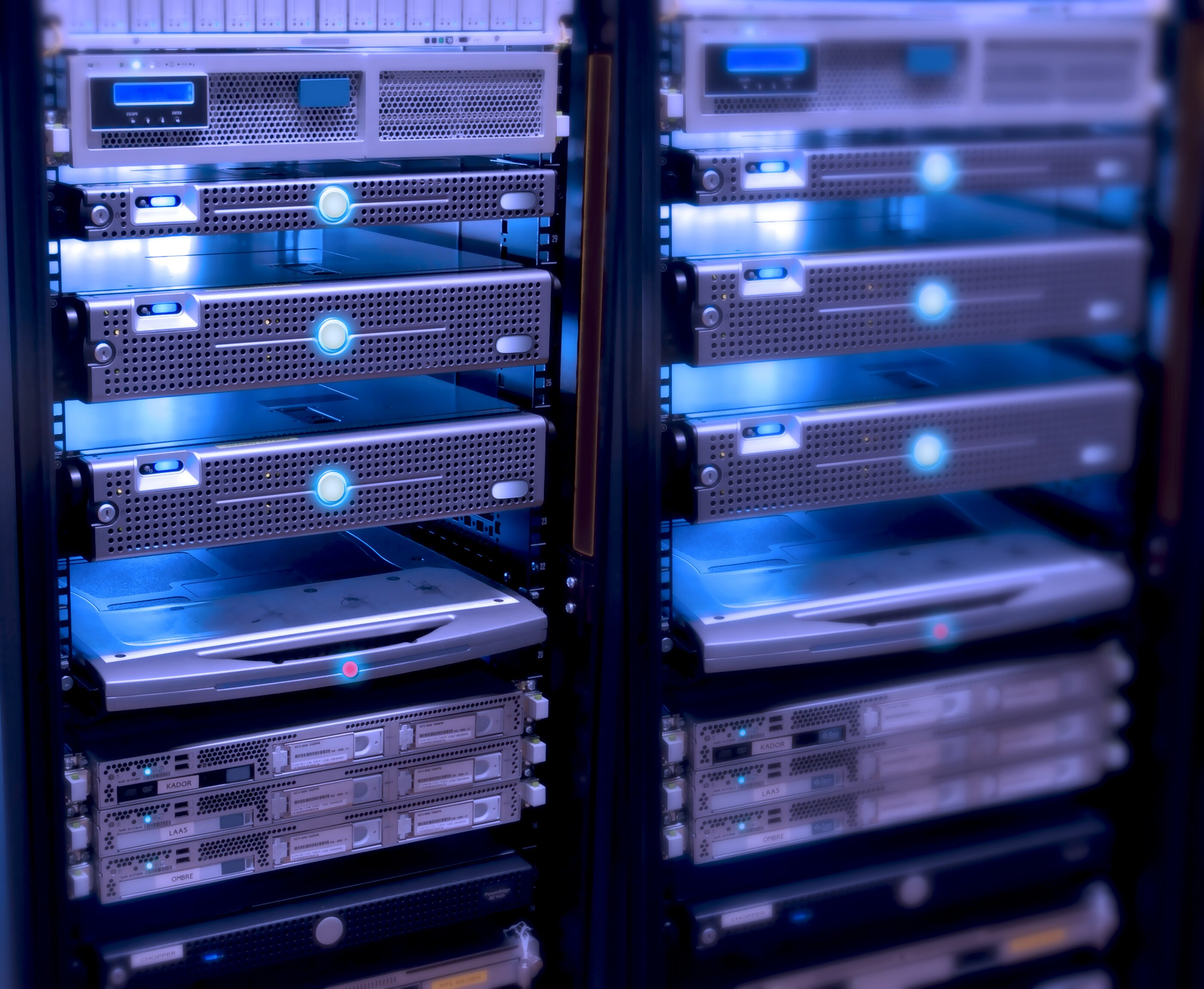 "Rack servers in an EIA 19"" rack"