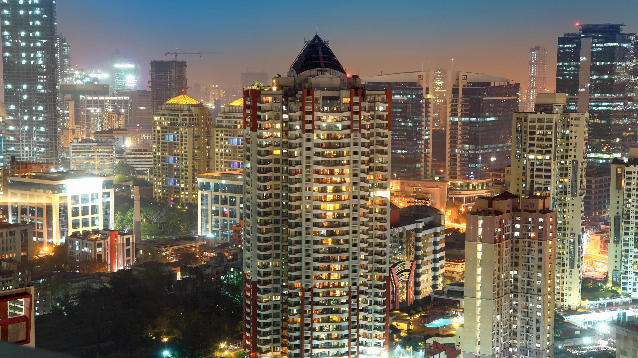 Mumbai India Skyline