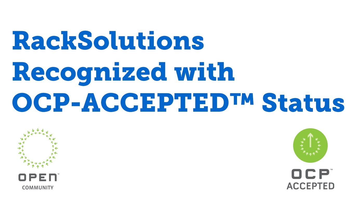 RackSolutions Recognized with OCP-Accepted Status