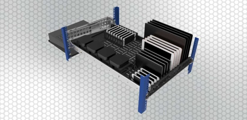 racksolutions modular shelf for test lab devices