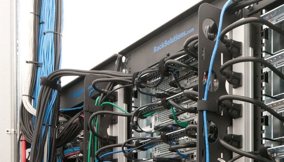 Equipment needed for server rack cable management