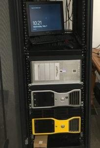 A homelab customer using RackSolutions' Universal Rail Kits to rackmount PCs