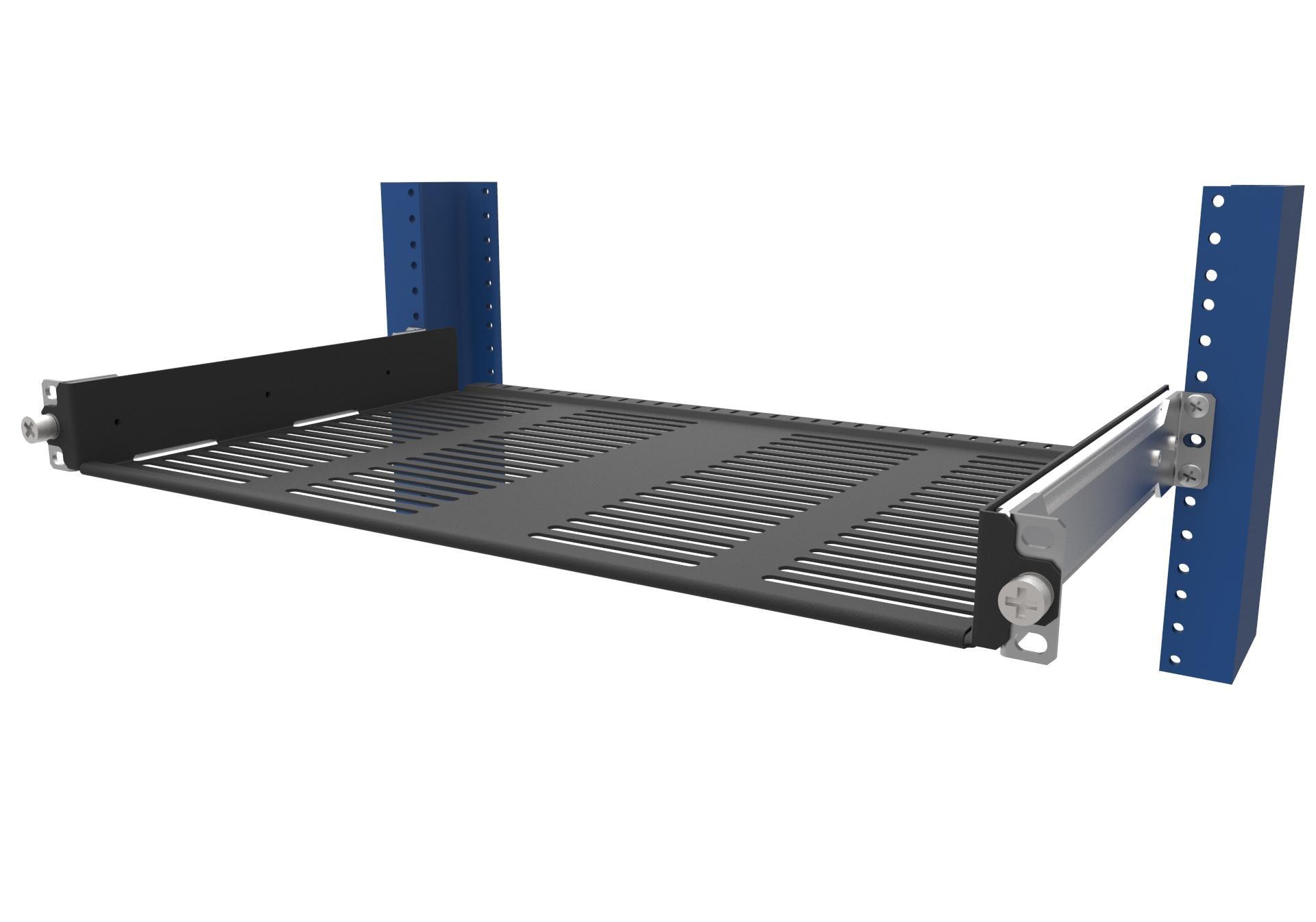 how sliding shelves make servicing 2 post equipment easy. Black Bedroom Furniture Sets. Home Design Ideas